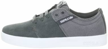Supra TK Low Stacks Skate - Charcoal Suede/Canvas