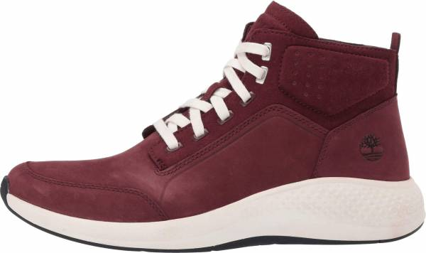 Timberland Flyroam Go Leather Chukka Sneakers Burgundy