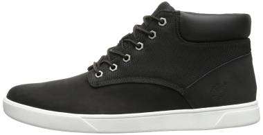 Timberland Groveton Plain-Toe Chukka Shoes - Black Canvas