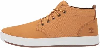 Timberland Davis Square Mixed-Media Chukka - Wheat Nubuck (A1OI3)