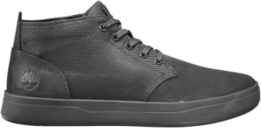Timberland Davis Square Mixed-Media Chukka - Black/Black Blackout Nubuck (A1T16)
