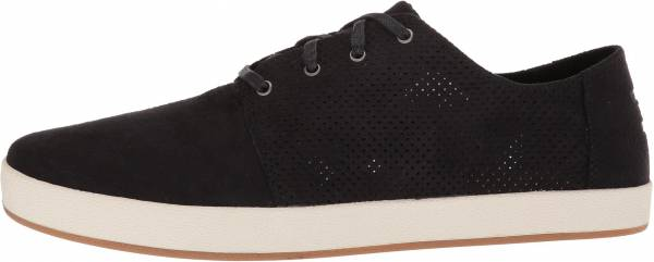 TOMS Payton - Black Perforated Synthetic Suede