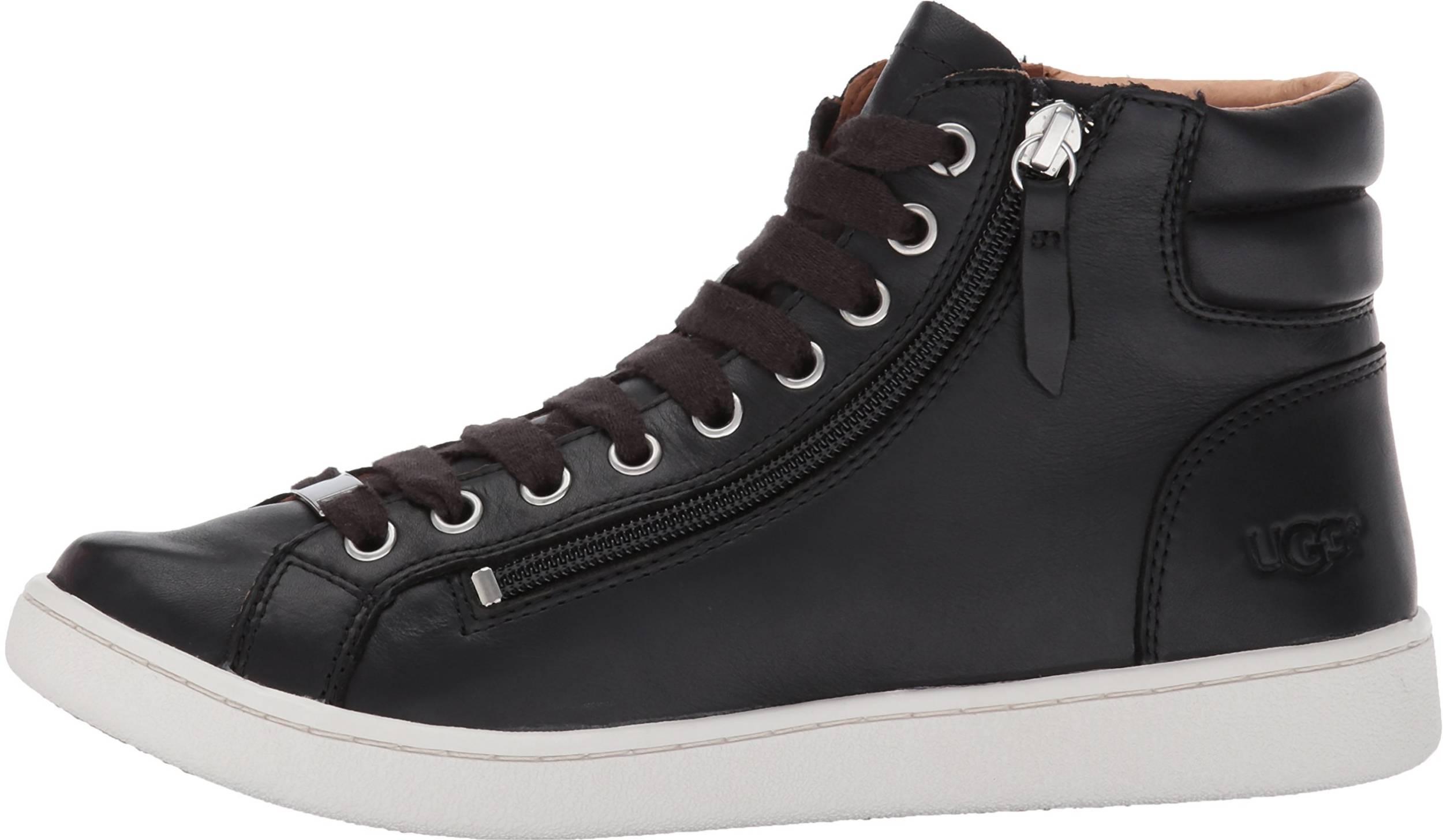 womens black mid top sneakers