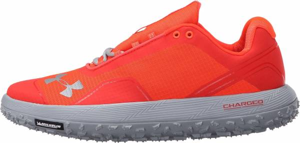 Under Armour Flat Orange And Gray Shoes