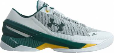 Under Armour Curry Two Low White/Green-green Men