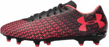 Under Armour ClutchFit Force 3.0 Firm Ground - Black/Black/Neon Coral (1278819006)
