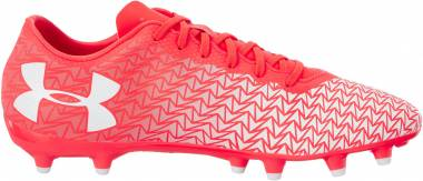 Under Armour ClutchFit Force 3.0 Firm Ground - Red Neon Coral 611