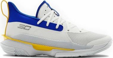 Under Armour Curry 7 - White/Blue/Yellow (3023300106)