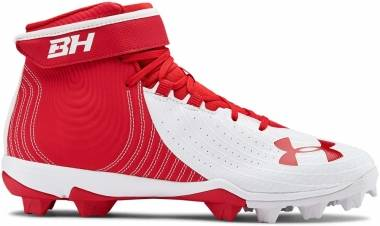Under Armour Harper 4 Mid RM - Red (600)/White (302206160)