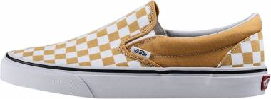 Vans Checkerboard Slip-On - Ochre/Truewhite (VA38F7QCP)