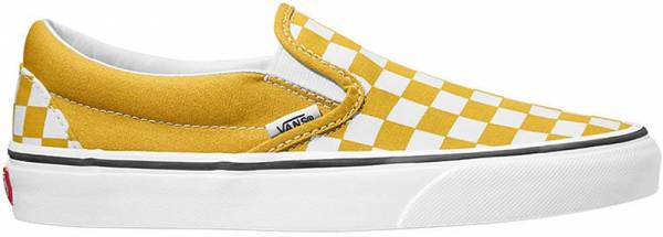 Vans Checkerboard Slip-On Yellow
