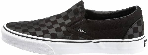 mens black vans slip ons