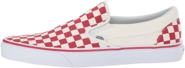 Vans Checkerboard Slip-On ( Primary Checker) Racing Red / White