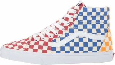 Vans Checkerboard SK8-Hi - (Checkerboard) Multi/True White