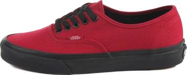 Vans Black Sole Authentic - Jester Red