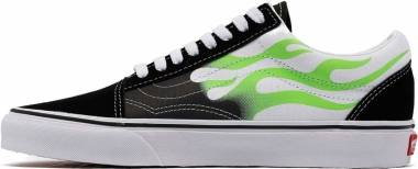 Vans Flame Old Skool - Black True White Green