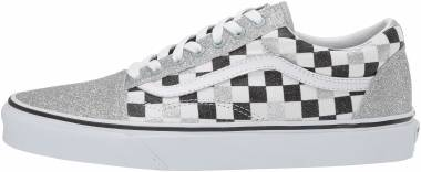 Vans Checkerboard Old Skool - Glitter Checkerboard Silver/True White (VN0A4BV5V3J)