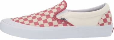 Vans Checkerboard Slip-On Pro - Checkerboard) Mineral Red