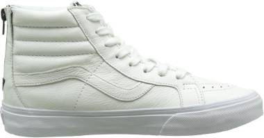 Vans Premium Leather SK8-Hi Reissue Zip - True White/Black (V4KYIPRE)