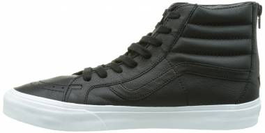 Vans Premium Leather SK8-Hi Reissue Zip - True White/Black (V4KYIIPRE)