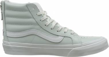 Vans Leather SK8-Hi Slim Zip (Leather) Zephyr Blue/Bla Men