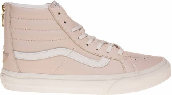 Vans Leather SK8-Hi Slim Zip - Beige