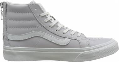 Vans Leather SK8-Hi Slim Zip - White (VA38GRMWU)