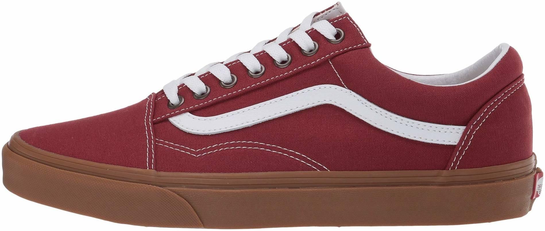 Vans Gum Old Skool sneakers in beige red (only $48) | RunRepeat