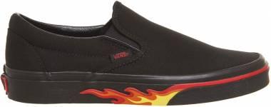 Vans Flame Slip-On Flame Wall Black Black Men