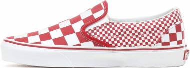 Vans Mix Checker Slip-On - Red (VA8FVK5)