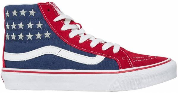 Vans SK8-Hi Slim Studded Star - Rojo - Red Blue