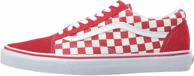 Vans Primary Check Old Skool Red Men