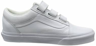 Vans Old Skool V - Weiß True Whitemono Leather