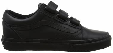Vans Old Skool V Black(black(mono Leather)) Men