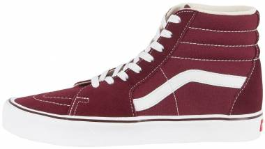 Vans SK8-Hi Lite Red ((Suede/Canvas) Port Royale/True White R2k) Men