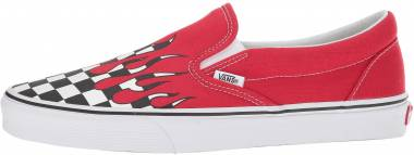 Vans Checker Flame Slip-On - Red