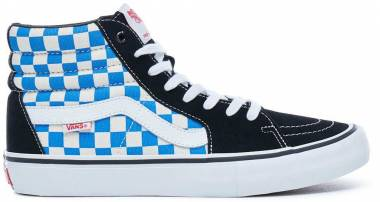 Vans Checkerboard SK8-Hi Pro - (Checkerboard) Black/Vict (VN0A347TQ1L)