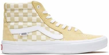 Vans Checkerboard SK8-Hi Pro - Pale Banana/Marshmallow (VN0A45JDUZL)