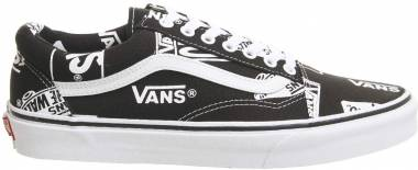 f79294a53a Vans Logo Mix Old Skool Black   True White Men