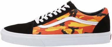 Vans Pop Camo Old Skool - (Pop Camo) Black/Spicy Orange/True White