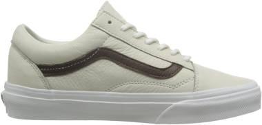 Vans Leather Old Skool - Blanc De Blanc/Potting Soil (VN0A31Z9LYT0)
