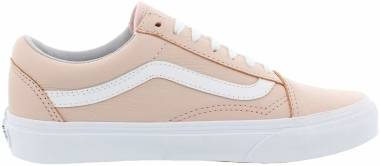 Vans Leather Old Skool - Pink ((Leather) Oxford/Evening Sand Qd6) (VN0A38G1QD6)