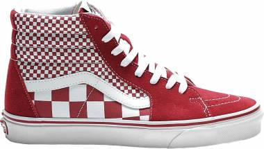 Vans Mix Checker SK8-Hi - Chilli Pepper White (VN0A38GEVK5)