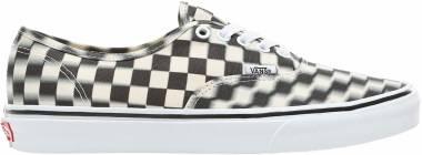 Vans Blur Check Authentic - (Blur Check) Black/Classic White