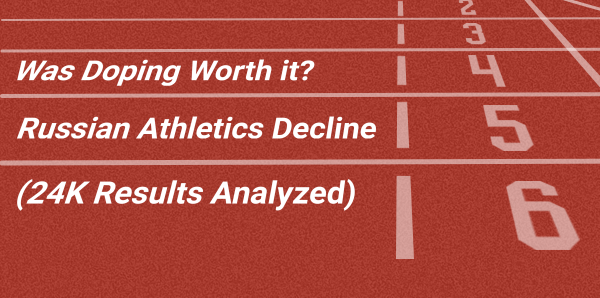 Was Doping Worth it? Russian Athletics Decline [24K Results Analyzed]