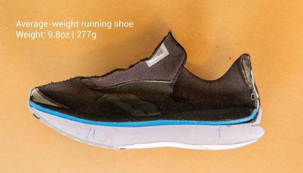 Average weight running shoe