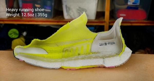 Heavy running shoe