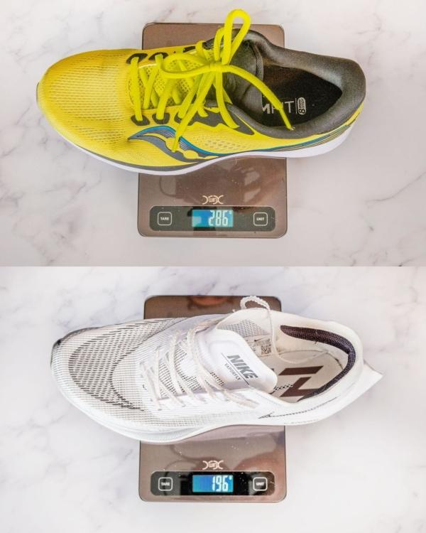 Measure shoe weight