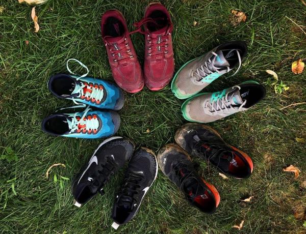 Trail running shoe rotation