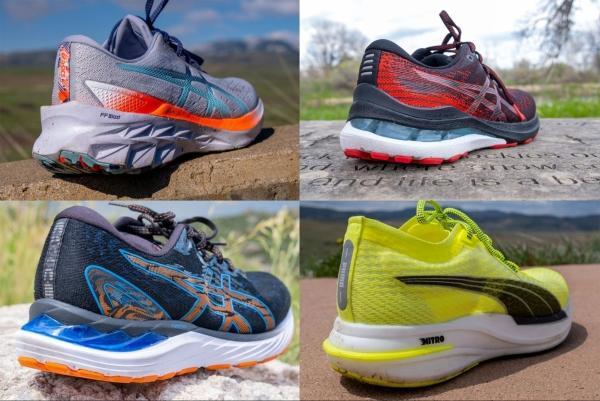 Running shoes for heel strikers